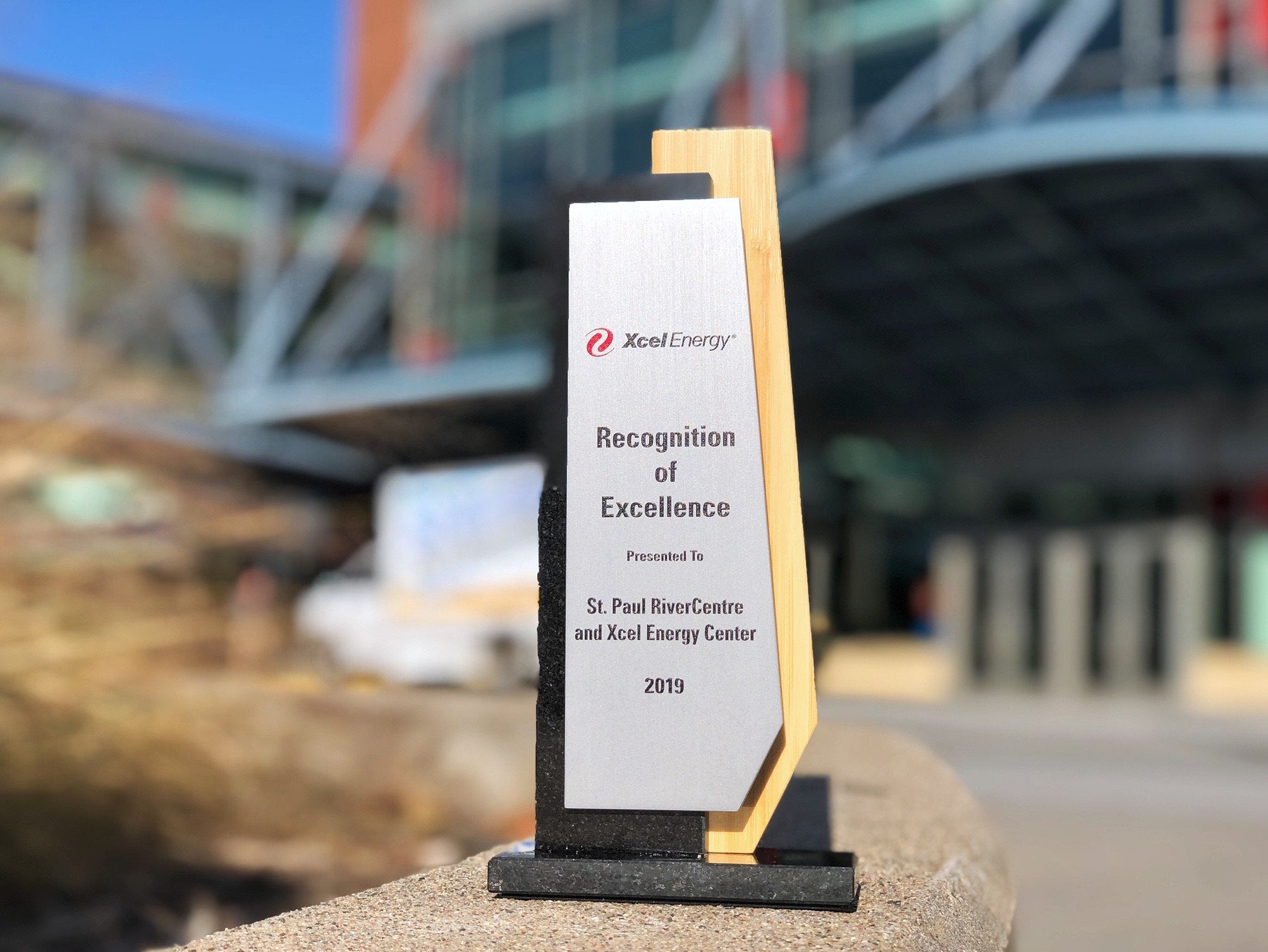 2019 Xcel Energy Recognition of Excellence Award Presented to Saint Paul RiverCentre and Xcel Energy Center